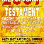 Metalmania 2007; Katowice, Spodek, 24.03.2007