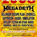 Metalmania 2008; Katowice, Spodek; 08.03.2008