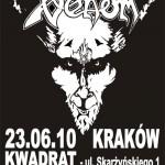 Venom, Hellias, Frostbitten Kingdom; Kraków, Klub Kwadrat; 23.06.2010