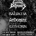 Eternal Deformity, Baliama, At Domine, Rethorn w Rybniku