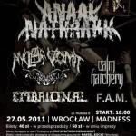 Anaal Nathrakh, Embrional, Nuclear Vomit, F.A.M., Calm Hatchery; Wrocław, Klub Madness; 27.05.2011