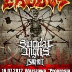 Exodus, Suicidal Angels, Bullet Belt; Warszawa, Klub Progresja; 16.07.2012