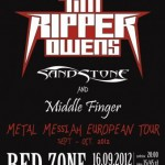 Tim 'Ripper' Owens, Sandstone, Middle Finger; Rzeszów, Klub Red Zone; 16.09.2012