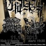 Grave Miasma, Necros Christos, Bestial Raids; 11.10.2013; Poznań, Klub U Bazyla