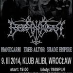 Nifelheim Fest: Borknagar, Manegram, In Vain, Ereb Altor, Shade Empire; Wrocław, Klub Alibi; 9.03.2014