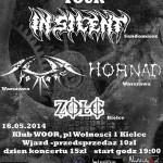 Southern Blast Tour 2014 – In Silent, Sun no More, Hornad, Żółć / 16.05.2014r – klub Woor, Kielce
