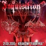 Obscure Verses For The Multiverse European Tour 2015 – Blackdeath, Ondskapt, Archgoat, Inquisition; Klub Fabryka, Kraków; 21.01.2015