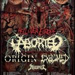 Szczegóły koncertów Aborted/Exhumed/Origin