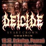 Deicide w Poznaniu i Wrocławiu