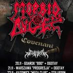 Fotorelacja z Morbid Angel, Azarath, Stillborn; Katowice, Mega Club; 23.11.2014