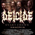 Fotorelacja z In The Minds of Evil Tour 2014: Deicide, Svart Crown, Sawthis; Katowice, Mega Club; 17.12.2014