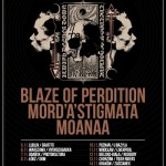 Days of No Light Tour 2015; Blaze Of Perdition, Mord'A'Stigmata, Moanaa; Klub Zaścianek; 14.11.2015