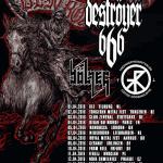 Deströyer 666, Bölzer, Trepaneringsritualen; Wrocław, Klub Firlej; 11.04.2016 by Infernal Impressions