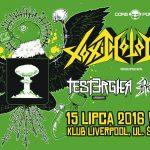 Toxic Holocaust, Tester Gier, Ragehammer; Wrocław, Klub Liverpool; 15.07.2016