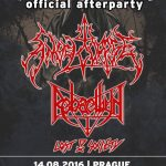 Brutal Assault Official Afterparty: Angelcorpse, Rebaelliun, Lost Society; Modrá Vopice, Praga, Czechy; 14 sierpnia 2016