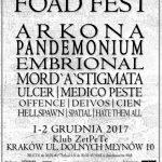 FOAD Fest; 1-2.12.2017; Kraków, Klub Zet Pe Te