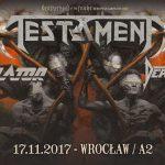 Fotorelacja z Testament, Annihilator, Death Angel; Wrocław, Klub A2; 17.11.2017