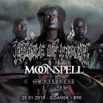 Fotorelacja z Cradle of Filth, Moonspell, Sacrilegium; Gdańsk, B90; 25.01.2018