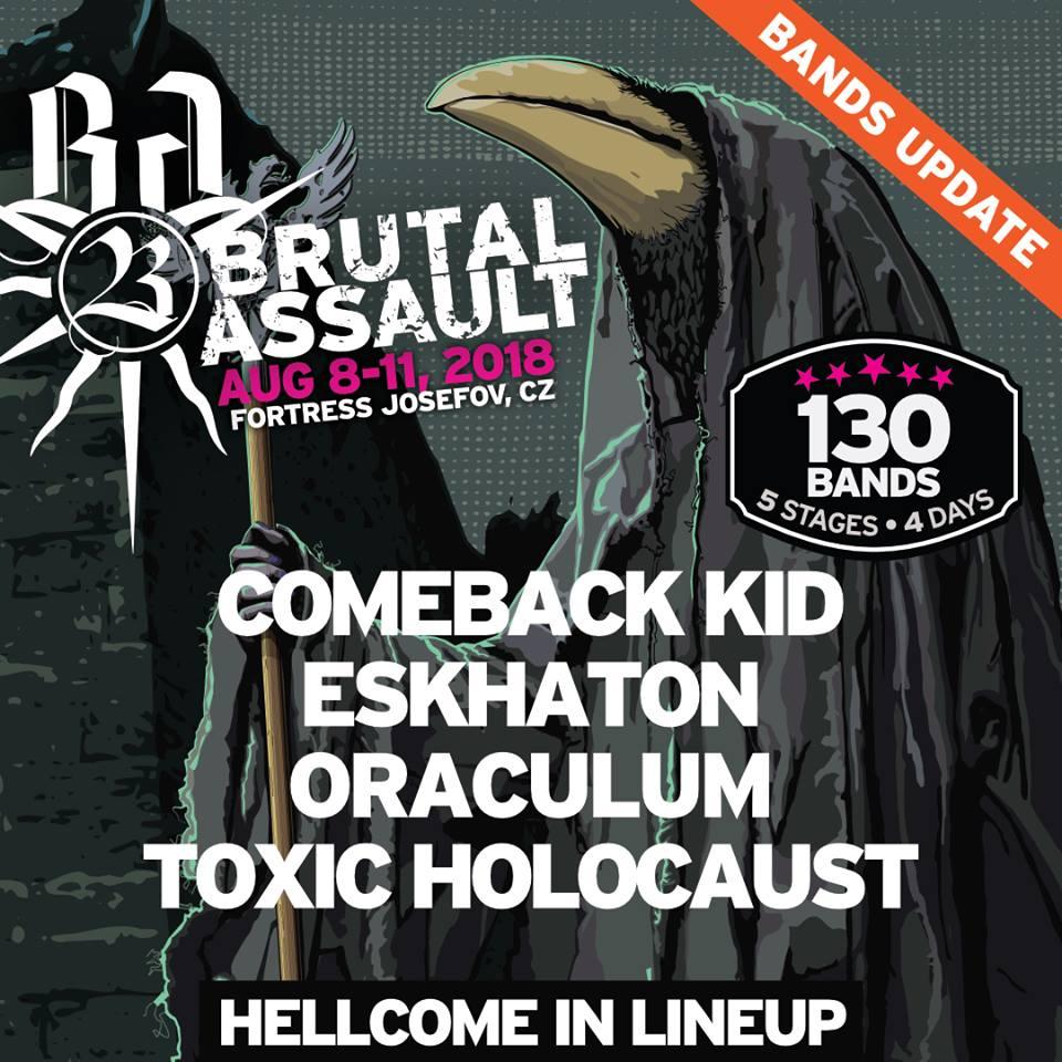 Ostatnia aktualizacja zespołów na Brutal Assault 2018