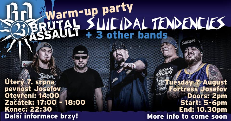 SUICIDAL TENDENCIES na Warm Up Party Brutal Assault 2018!