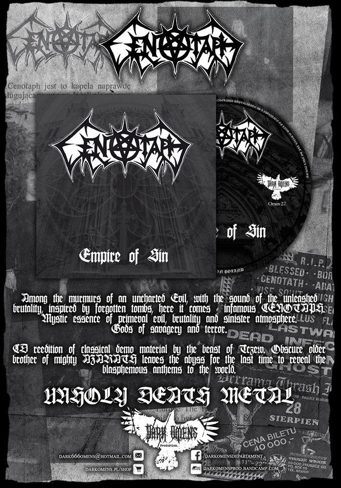 Reedycja dema Cenotaph w Dark Omens Prod.