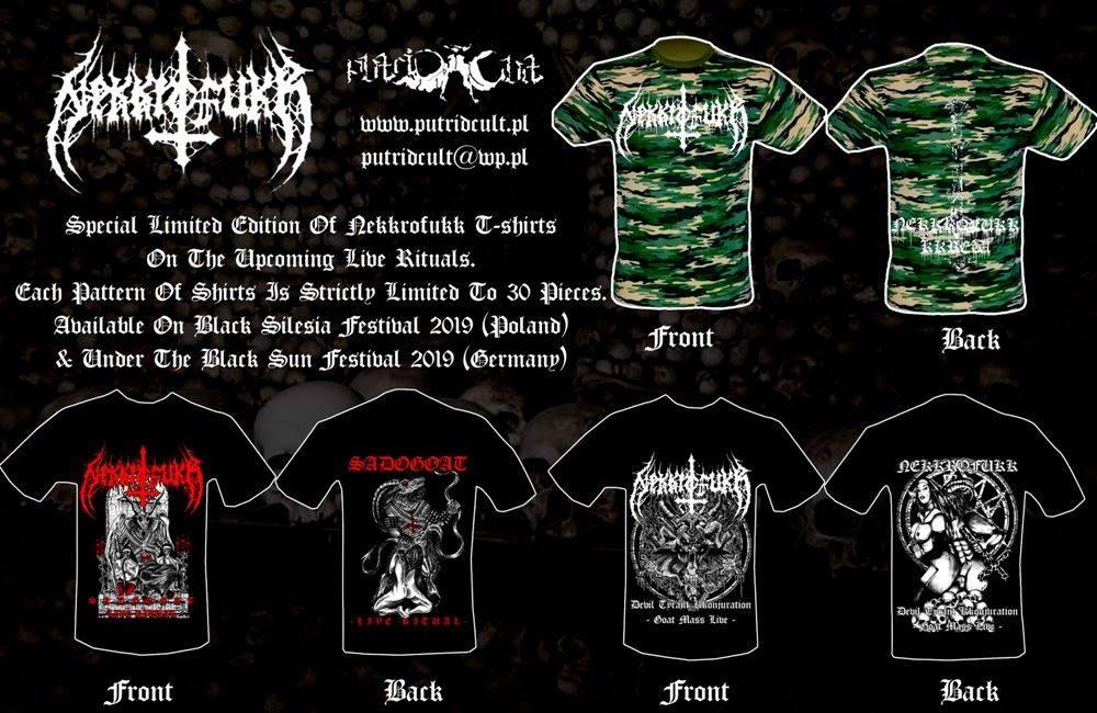 Limitowane koszulki Nekkrofukk dostępne na festiwalach