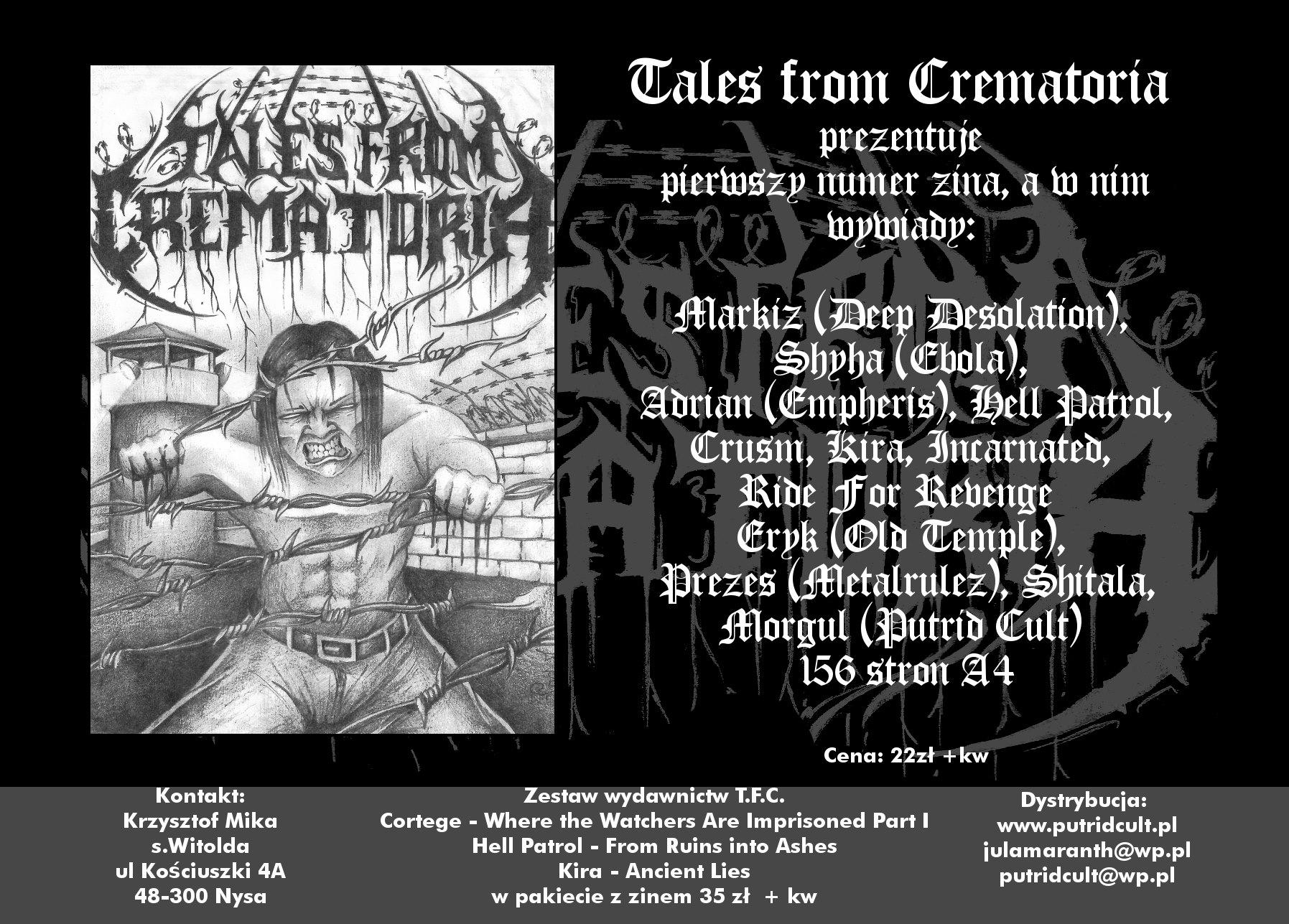 Tales From Crematoria zine już dostępny!